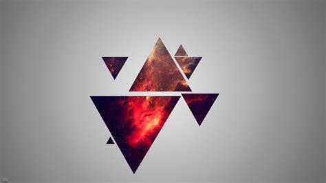 minimalism, Geometry, Triangle, Nebula Wallpapers HD