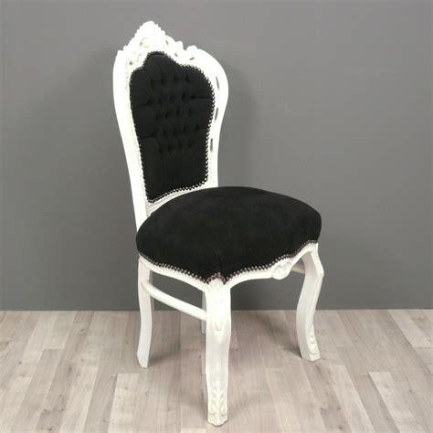 chaise baroque noire  blanche fauteuils baroques