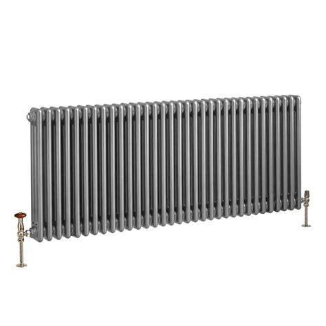 milano column horizontal windsor radiator silver traditional metallic triple various sizes bestheating
