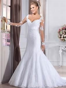 sexy sweetheart long sleeves mermaid wedding dresses see With see through lace back wedding dress
