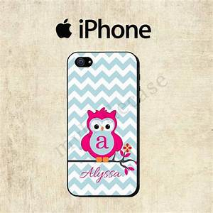iPhone 6 Case - Owl iPhone 5C Case - Monogram iPhone 5S ...