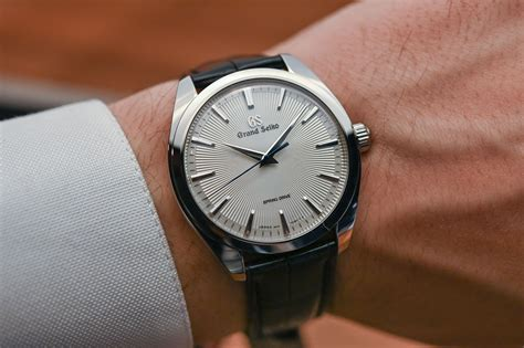 review grand seiko hand wound spring drive collection