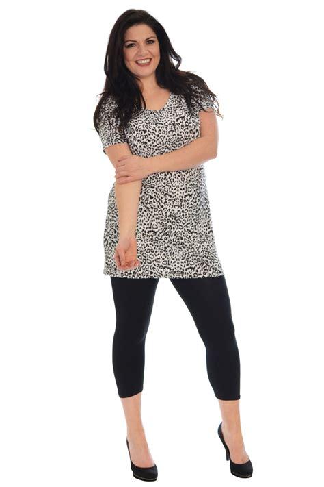 New Womens Plus Size Tops Ladies Tunic Leopard Animal ...