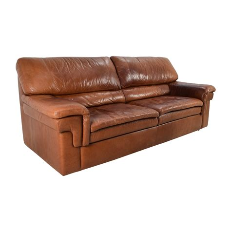 71 Off Classic Cherry Brown Leather Sofa Sofas
