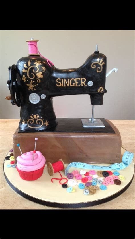 Singer Sewing Machine Birthday Cake Cakecentralcom