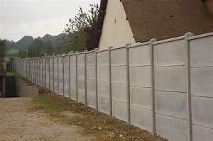 Crochet Mur Beton : mur en plaques de b ton cl tures bataille ~ Zukunftsfamilie.com Idées de Décoration