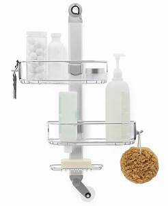 simplehuman bath accessories adjustable shower caddy With bathroom caddies accessories