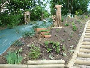 amenagement talus amenagement talus plantations talus With amenagement de jardin en pente 1 amenagement paysager talus pente classique grenoble