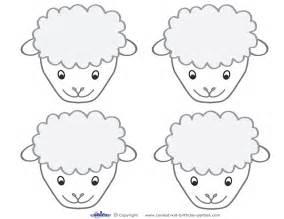 Printable Sheep Face
