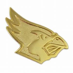pinmart39s gold cardinal mascot chenille letterman39s jacket With chenille letter jacket pins
