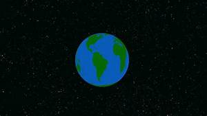Earth Line With Space Background Stock Footage Video ...