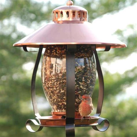 unique bird feeders coppertop lantern bird feeder yard envy
