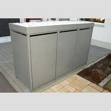 Mülltonnenbox Alu  Aluminium Mülltonnenboxen Von Zaun Fackler