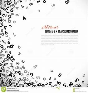 Abstract Math Number Background. Vector Illustration Stock ...