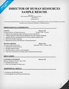 director of human resources sample resume resumecompanion With human resources examples
