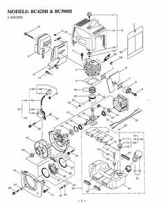 Maruyama Parts Bc420h Bc500h Engine