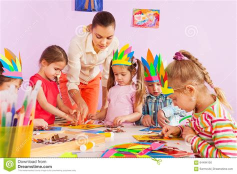 art class for preschoolers teach preschool in class stock photo 517