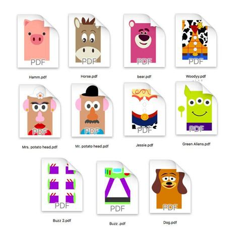 toy story diy favor bag template toy story party bags