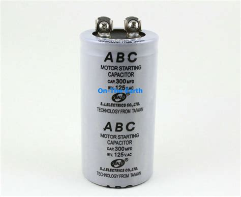 Electric Motor Capacitor by 2 Pieces Electric Motor Start Capacitor Ac 125v 300 Mfd