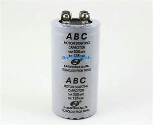 2 Pieces Electric Motor Start Capacitor Ac 125v   300 Mfd Uf
