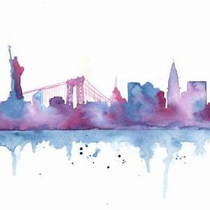 Original Watercolor Painting - New York from MilkFoam My Art
