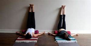 Viparita Karani, Legs Up the Wall. Restorative Yoga Inversion