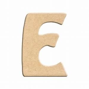 Lettre En Bois A Poser : lettre e peindre d corer lettre en bois brut lettre bois ~ Teatrodelosmanantiales.com Idées de Décoration