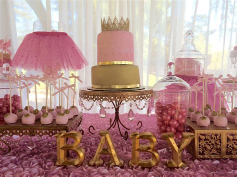pink and gold baby shower decorations pink tutus baby shower ideas themes