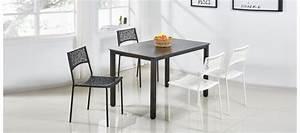 Table à Manger Noire : table manger design en bois isola ~ Teatrodelosmanantiales.com Idées de Décoration
