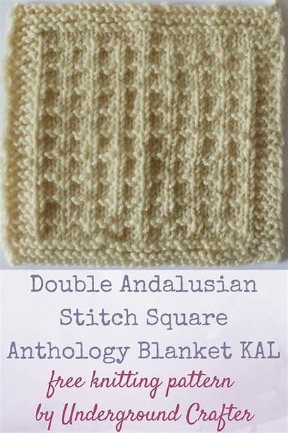 Knitting Andalusian Pattern Stitch Patterns Double Square
