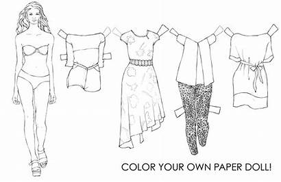 Paper Coloring Doll Dolls Yes Ll Ra