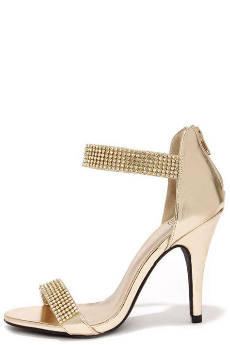 light gold heels lovely gold heels rhinestone heels single sole heels