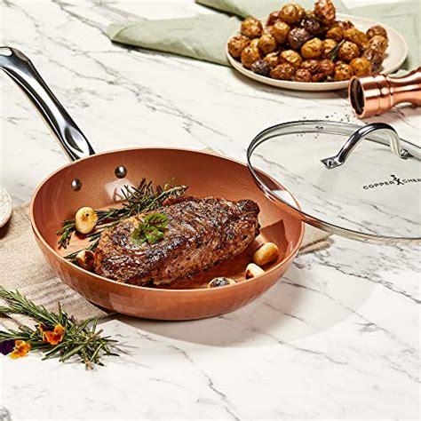 copper chef   diamond fry pan  frying pan  lid skillet  ceramic  stick