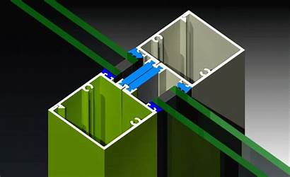 Mullions Expansion Broken Thermally Snap Together Door