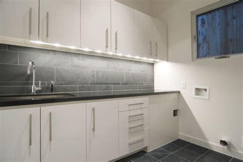 croix custom homes modern laundry room houston