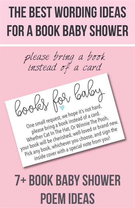 Baby Shower Book Poem - 9 quot bring a book instead of a card quot baby shower invitation