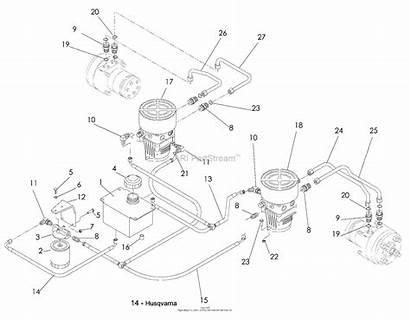 Hydraulic Motor Pump 2348 Husqvarna Yth Diagram