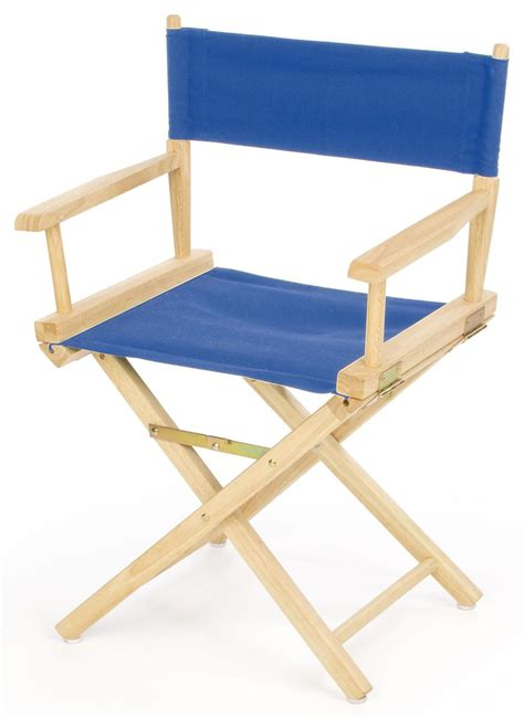 wooden folding directors chair director chairs 33 quot wooden with blue canvas seat