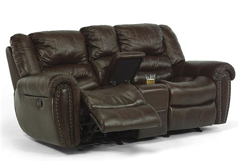 Flexsteel Reclining Loveseat With Console by Flexsteel Latitudes Crosstown Power Reclining Loveseat