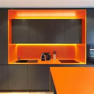 cuisine orange et gris veglixcom les dernieres idees With cuisine orange et gris