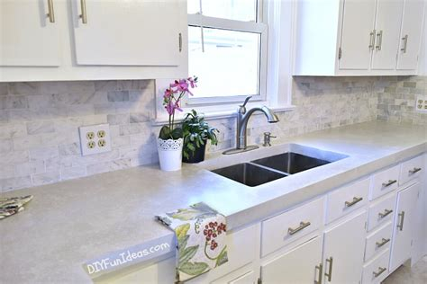 rolling kitchen island gorgeous budget kitchen makeover with white concrete