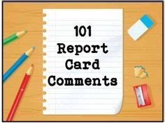 science reports images report card comments