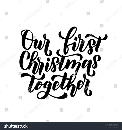 Our First Christmas Togethermerry Christmas Happy Stock