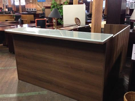 front desk reception furniture cherryman 39 s amber 71 quot w reception front desk shell with
