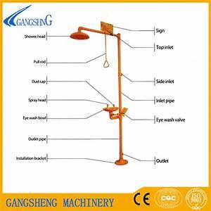China Combi Safety Shower Eyewash Stations