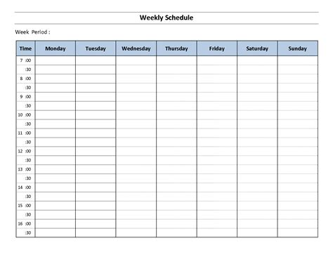4 Week Schedule Template by Week Schedule Template Lisamaurodesign