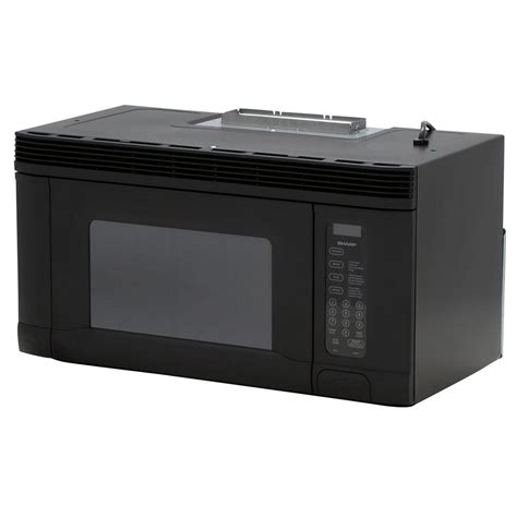 sharp 1 4 cu ft the range microwave in black r1405t the home depot