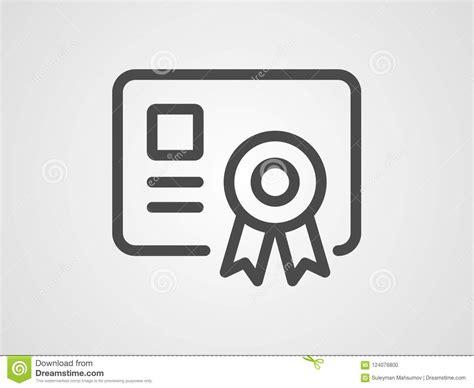 Certificate Vector Icon Sign Symbol Stock Vector