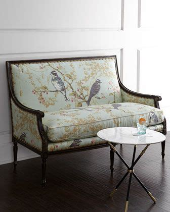 horchow settee bird vines settee by massoud at horchow for the home