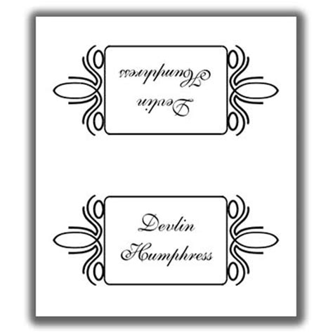 Sided Place Card Template by Place Card Template 4